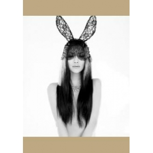 masque dentelle lapin