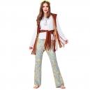 Costume Hippie avec surbottes fourrure