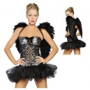 costume déguisement ange noir