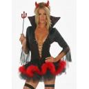 costume déguisement diablesse diable noir