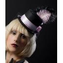 Mini chapeau avec plume