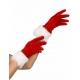 Gants rouge avec fourrure blanche mère Noël
