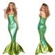 Costume la sirène verte et bleue
