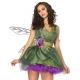 Costume la fée des bois avec grandes ailes