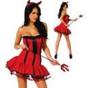 costume déguisement diablesse diable rouge