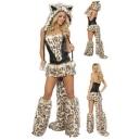 Costume léopard en fourrure
