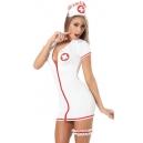Costume Deguisement sexy l'infirmière avec jarretière