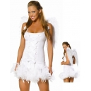Costume Ange avec ailes en plume
