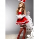 Costume lapin bunny rouge