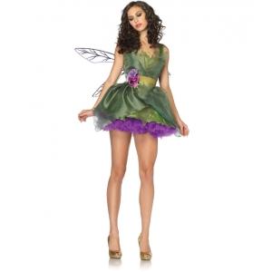 Costume la fée des bois avec ailes
