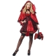 Costume petit chaperon rouge glamour avec cape