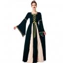 Costume Robe médiévale bordeaux