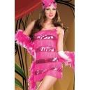 Costume charleston rose