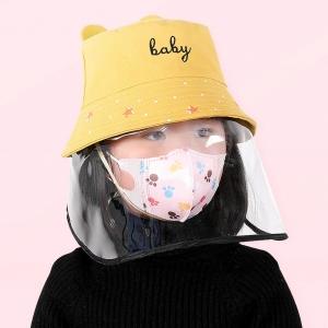 Chapeau avec visiere de protection anti postillon gouttelette anti projection