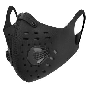 Masque Protection bouche anti pollution double valves et filtre anti charbon
