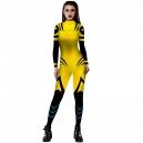 Costume combinaison X-men bleue et jaune