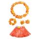 Costume ensemble hawai orange pour enfant