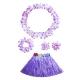 Costume ensemble hawai violet pour enfant