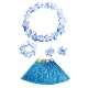 Costume ensemble hawai bleu pour enfant
