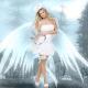 Deguisement ange avec ailes et halo