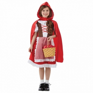 Costume petit chaperon rouge avec cape pour fille
