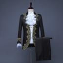Déguisement veste noire chemise jabot de prince