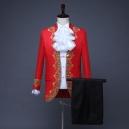 Déguisement veste rouge chemise jabot de prince