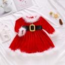 Costume robe mère noël filette