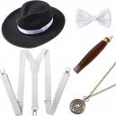 Ensemble accessoires bordeaux pour homme année 20 Gasby le magnifique