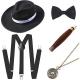 Ensemble accessoires noir pour homme année 20 Gasby le magnifique