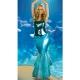 Costume la sirène sequin bleu