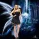 Deguisement ange noir avec ailes et halo