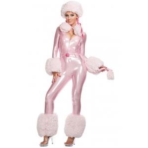 Costume chien caniche rose