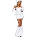 Costume Ours blanc polaire