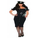 Costume la policière NCIS avec képi