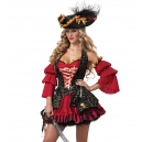 Costume pirate rouge
