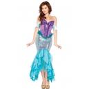 Costume la sirène sequin bleu et violet
