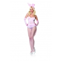 Costume lapin bunny queue de pie rose