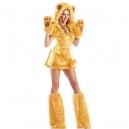 Costume nounours doré