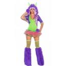 Costume petit monstre violet tutu