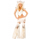 Costume indienne loup blanc