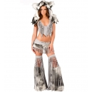 Costume indienne loup gris
