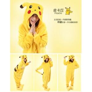 Déguisement combinaison mascotte pikachu pokemon