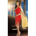 Costume Cléopâtre reine d'Egypte rouge