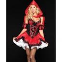 Costume le petit chaperon rouge sexy à paillettes