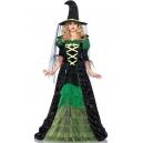 Costume sorciere robe longue avec chapeau