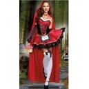 Costume petit chaperon rouge avec cape longue