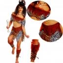 Costume jungle femme préhistorique