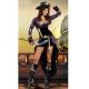 Costume pirate noir et violet