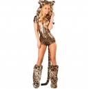Costume léopard combishort